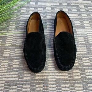 Ralph Lauren men's black suede slip on loafer 8